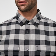 Checkered Ridge Long Sleeve - Stone Gray