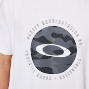 Camo Float Ellipse Tee - White