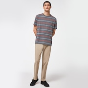 All Stripes SS Tee - New Athletic Gray