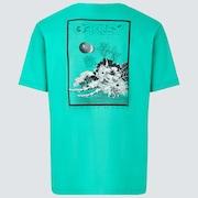 Interstellar Great Wave Tee - Mint Green