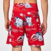 Tropical Bloom 18 Boardshort - Redline Hawai