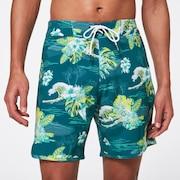 Tropical Bloom 18 Boardshort - Bayberry Hawai