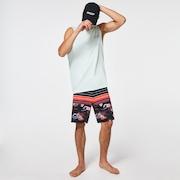 Retro Bloom 20 Boardshort - Black Hawai/Stripe