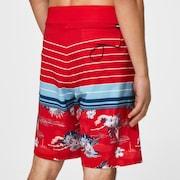 Retro Bloom 20 Boardshort - Red Line Hawai/Stripe