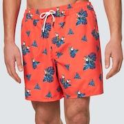 Toucan Tropics 16 Beach Short - Toucan Magma Orange
