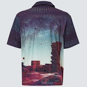 Outer Limits SS Button Down - Galaxy Print