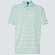 Oakley Jacquard Stripe Polo - Bay Green