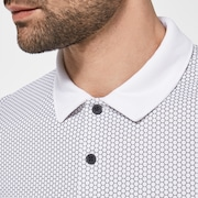 Hexad Block Polo - White