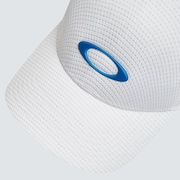 Ellipse Thin Stripe Cap - White