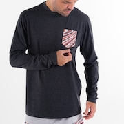 Camiseta Marbled LS - Blackout