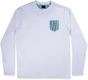 Camiseta Marbled LS - White