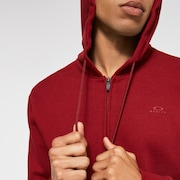 Relax Full Zip Hoodie - Iron Red