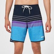Retro Lines 18 Rc Boardshorts - Fathom Stripes