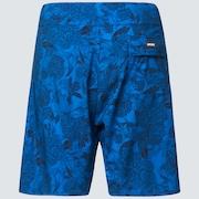 Dark Floral 18 Rc Boardshorts - Blue Flower