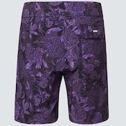 Dark Floral 18 Rc Boardshorts - Purple Flower