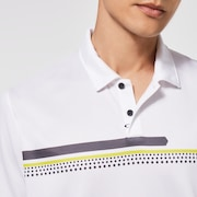 Oakley Hexsplit Stripe RC Polo - White