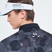 Camo Back Evo Golf Short Sleeve Polo Shirt - Wrought Iron