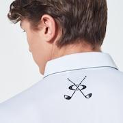 Icon Camo Evo Golf Short Sleeve Polo Shirt - White