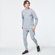 Foundational Training  Long Sleeve Tee - Fog Gray