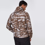 Enhance Wind Warm Graph JKT 10.7 - Brown Print