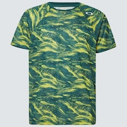 Slant Graphic Tee 2.0 - Green Print