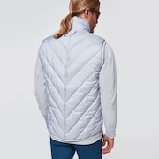 Skull Moire Grid Insulation Vest - Gray Slate