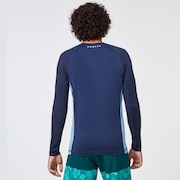 Color Block LS Rashguard - Universal Blue