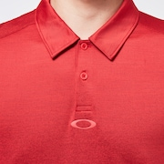 Gradient Gravity Polo 2.0 - Poppy/Deep Red Hthr