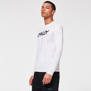 Mark II L/S Tee - White/Black