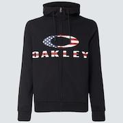 Bark FZ Hoodie - Black/American Flag