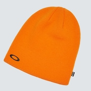Fine Knit Beanie - Bold Orange