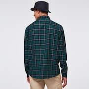 Essential Plus LT Flannel LS - Tree Green Check