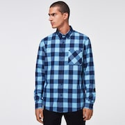 Essential Plus LT Flannel LS - Aviator Blue Check