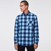Essential Plus LT Flannel LS - Aviator Blue Check