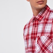 Essential Plus LT Flannel LS - Deep Red Check