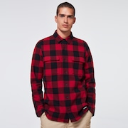 Podium Long Sleeve Flannel - Sundried Tomato