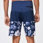 Floral Seamless 20 Boardshort - Blue/Flowers