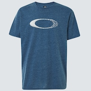 Cracks Ellipse Tee - Universal Blue Hthr