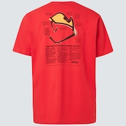 Heritage Eyeshade Tee - Poppy Red