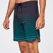 Shades 19 Boardshort - Black/Green Stripes