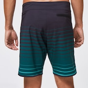 Shades 19 Boardshort - Black/Green Stripes