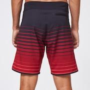 Shades 19 Boardshort - Black/Red Stripes