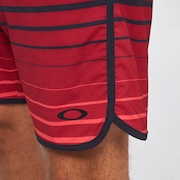 Shades 19 Boardshort - Black/Red Stripes
