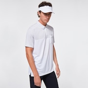 Blocked Gravity Polo - White