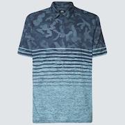 Camo Stripes Polo - Universal Blue