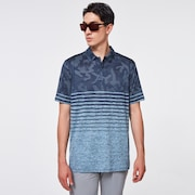 Camo Stripes Polo - Universal Blue