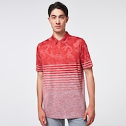 Camo Stripes Polo - Fog Gray