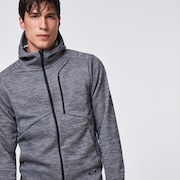 Enhance Grid Fleece Jacket 10.7 - Dark Gray Htr
