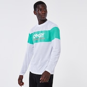 TNP Fiery Stripe LS Tee - White