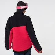 TNP Women's Sherpa Fleece - Black/Rubine